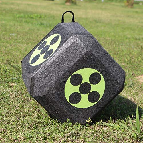 ZUINIUBI Cube Foam Archery Target Polyhedral Dice 3D High Density Self Healing Foam Cube ()