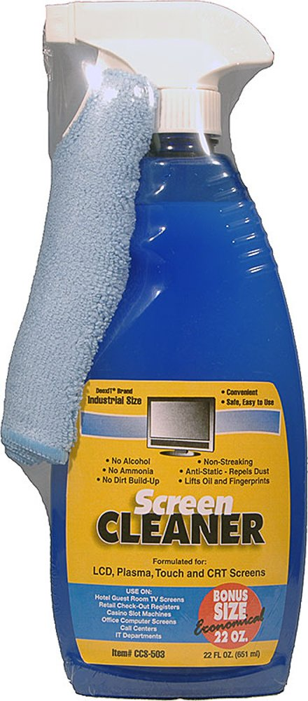 Screen Cleaner Kit with Included Microfiber Cloth - Alchohol-Free 22oz - For LCD, Plasma, & Touch Screens