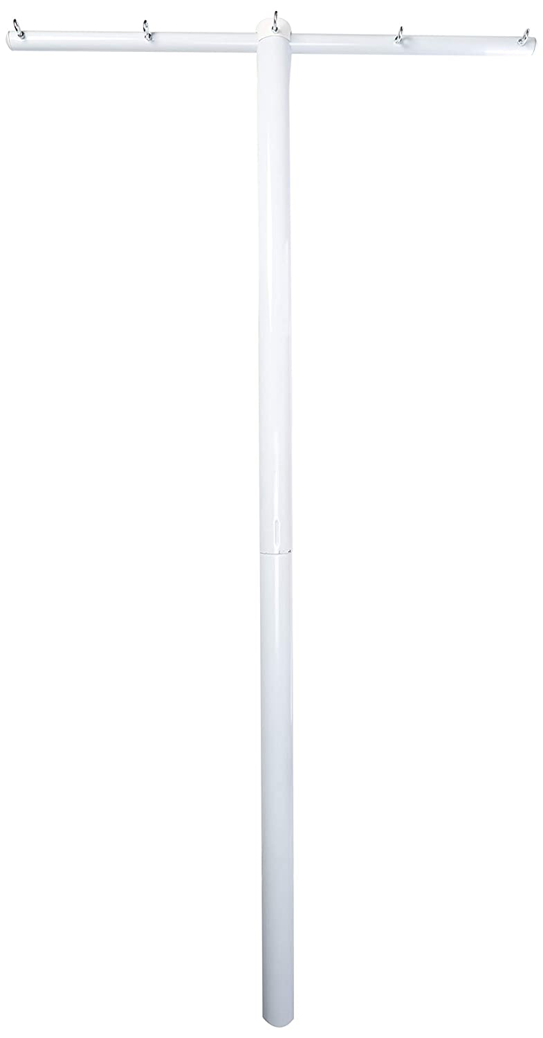 Household Essentials Outdoor Clothesline, 86 inches high, 46 inches Wide, and 3 inches deep; 3-inch Diameter Post, White