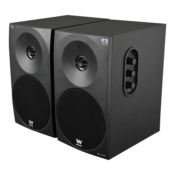 Woxter Dynamic Line DL-410 BT - Altavoces Multimedia 2.0 Bluetooth(Potencia 150W, en Madera, conexión 35 mm, Control de Sonido en Panel Lateral), ...