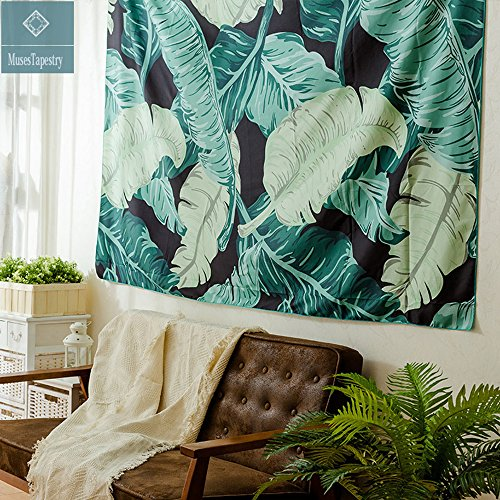 Muses Banana Leaf Wall Tapestry Home Decor 60