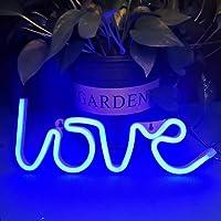 Bipily Love Luz de neón Letreros de neón de amor Letreros de luz de neón Letreros de amor LED para regalo de San…