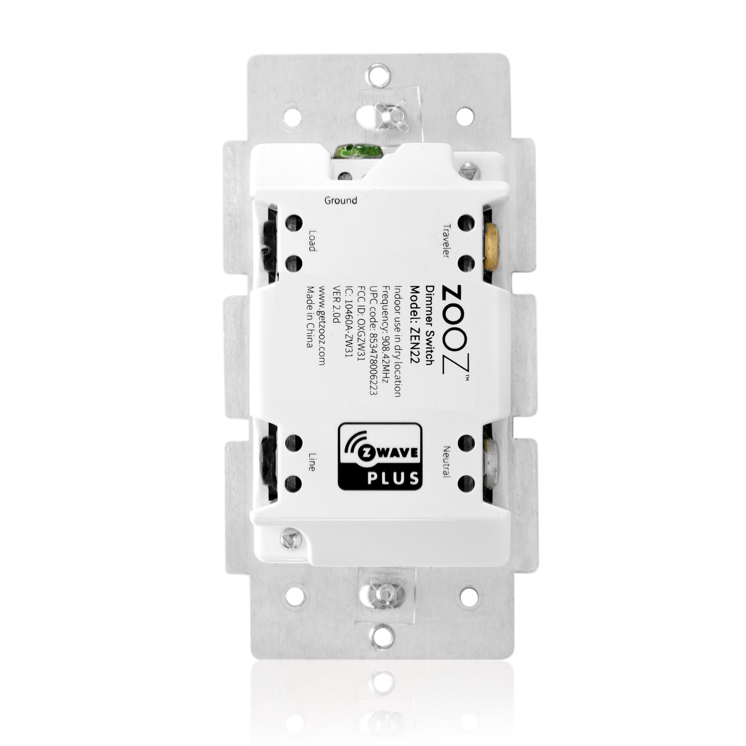 Zooz Z Wave Plus Wall Dimmer Switch Zen22 White Ver 20 Works Fitting To Old Electrical Wiringdimmerinstructionsjpg With Existing Regular 3 Way