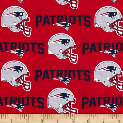 - Fabric Traditions NFL Cotton Broadcloth New England Patriots Red/Navy Yard