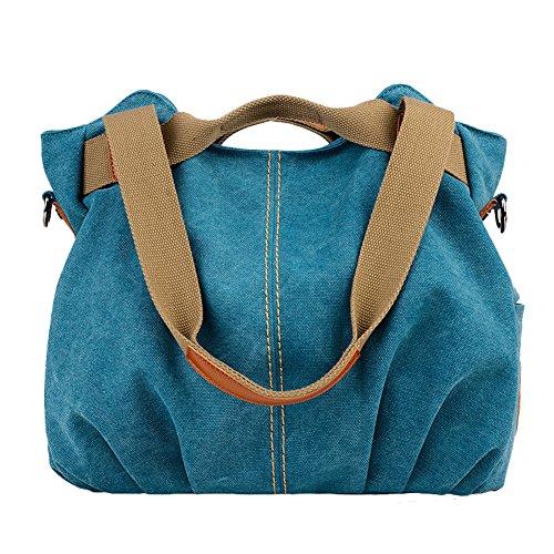UNYU Hobo Handbags - Bolso al hombro para mujer Multicolor Azul