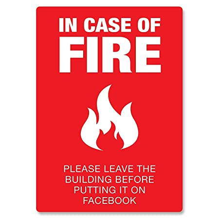 Tarfy In Case of Fire Red Information Slogan Safety Warning ...
