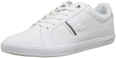 c89769564cb4 Lacoste Europa 417 White Leather Mens Trainers Shoes  Amazon.co.uk ...