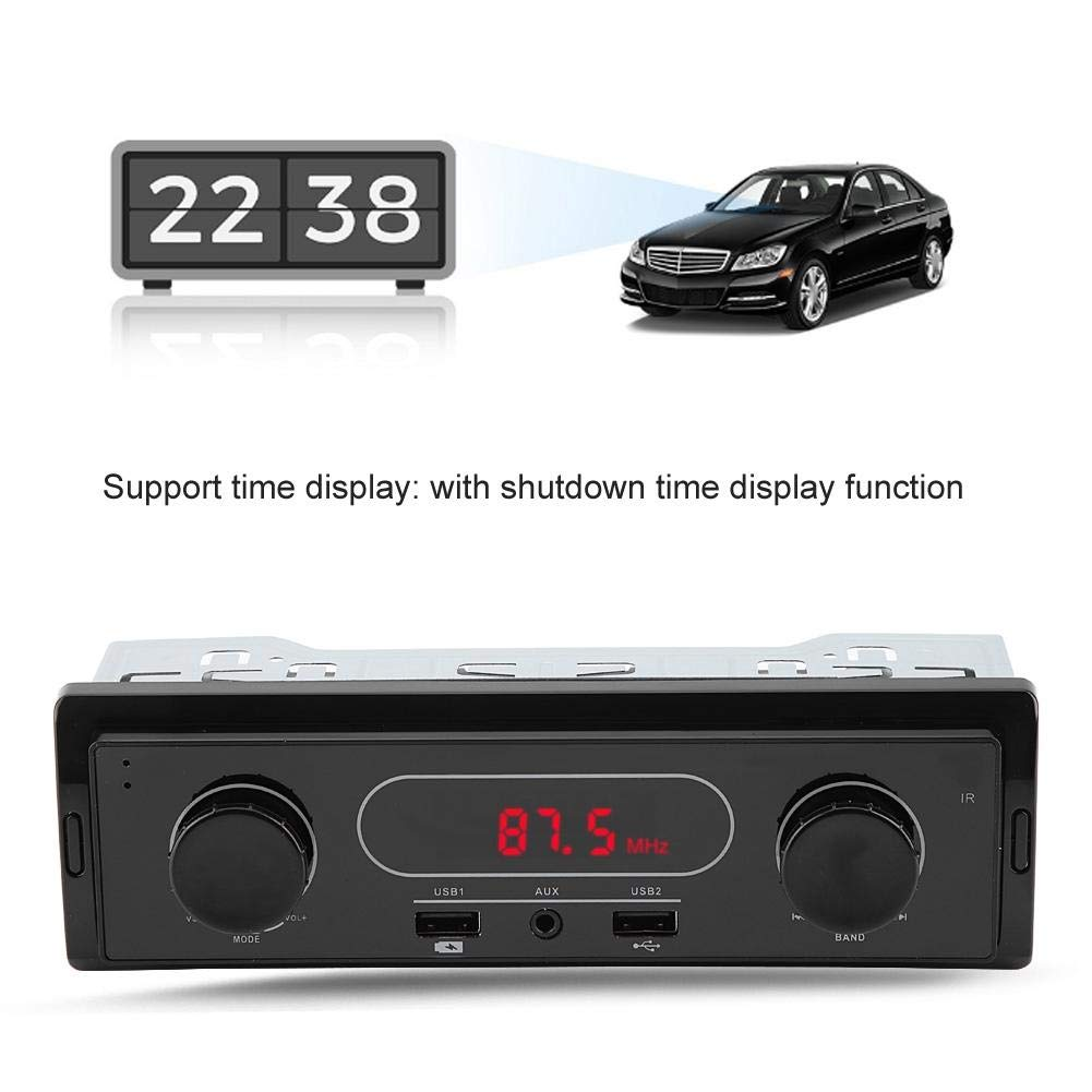 Aufladen des USB-Radiotelefons Qii lu Auto MP3 Player K502 12V Aluminiumlegierung AUX Stereo FM MP3 Player aus ABS
