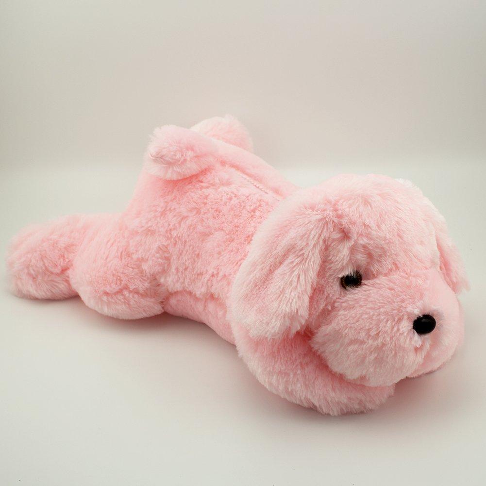 YunNasi Creative Night Light LED Plush Dog Toy Gifts for Kids Girlfriend (pink)