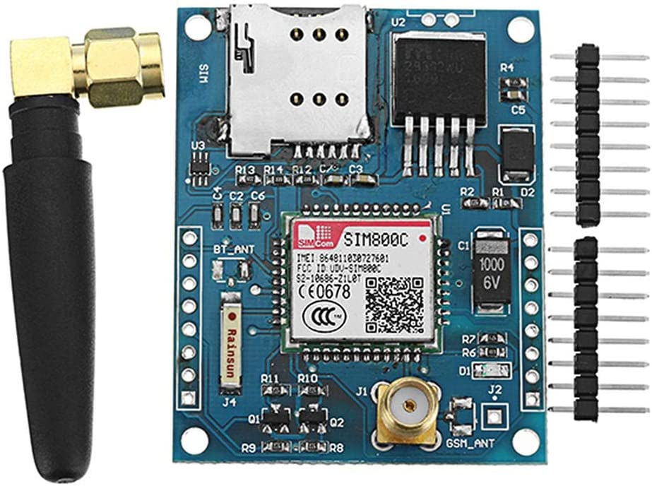 SIM800C Development Board GPRS GSM Module Support Message Bluetooth TTS DTMF Quad-Band Universal Motorcycle