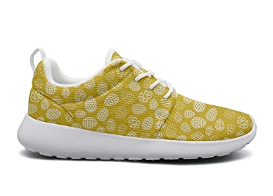 dcc079818ce5 Womens Roshe one Lightweight Happy Easter Rabbit Egg Yellow Beautiful  Cross-Trainer mesh Shoes