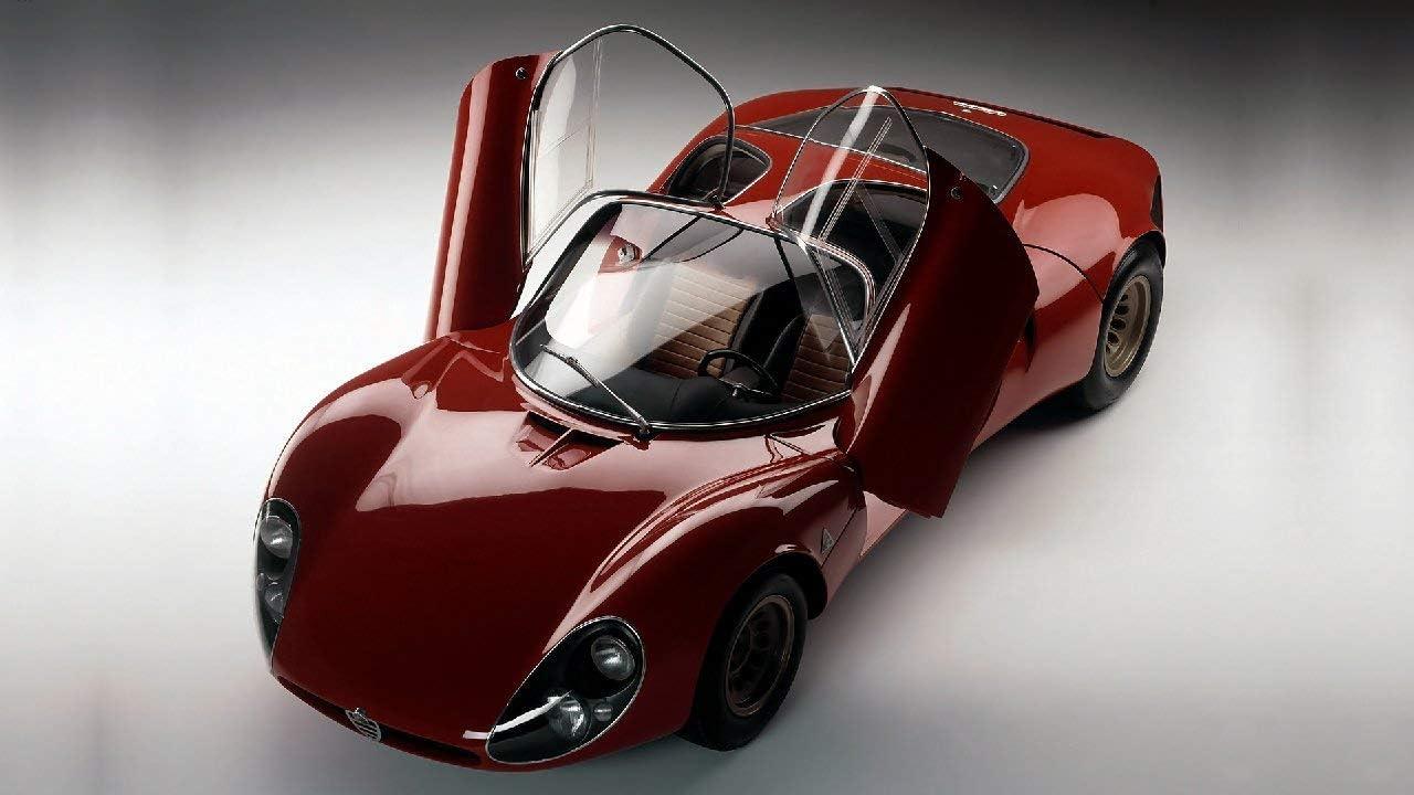 Lilarama USA 1967-Alfa-Romeo-Tipo-33-Stradale-Prototipo-V3- - Super Car Classic Car - Giant Poster Print - Cool Wall Decor Art Print Poster