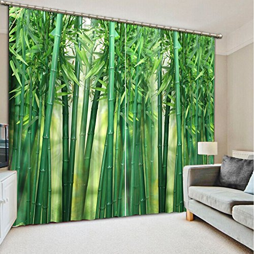 Sproud Top Quality 3D Printing Curtains Lifelike Blackout Cortians Beautiful Full Light Shading Bedroom Livng Room Curtains 260Dropx200Wide(Cm) 2 pieces by Sproud