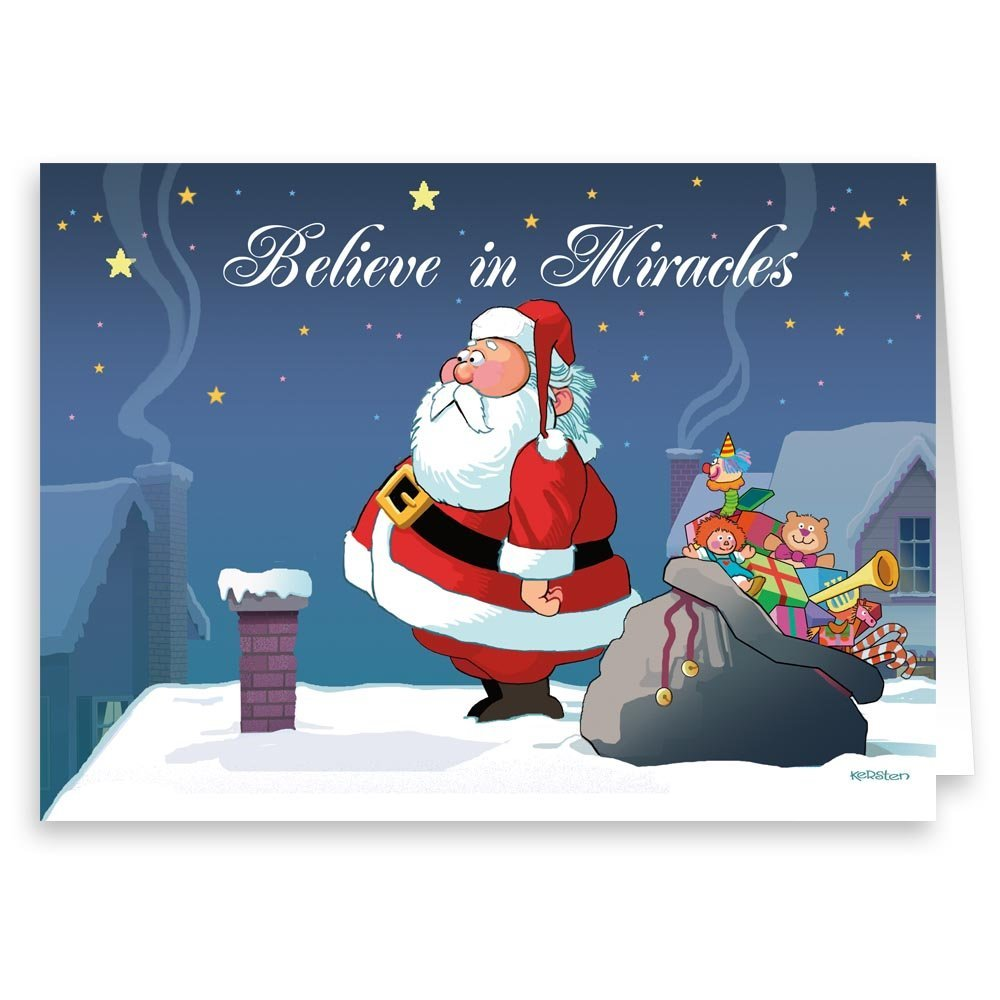 Amazon Do You Believe In Miracles Funny Christmas Card 18