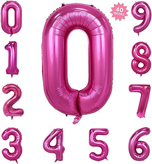 "40/"" Giant Foil Number Helium Glitz Large Balloons Birthday Wedding Party Decor"