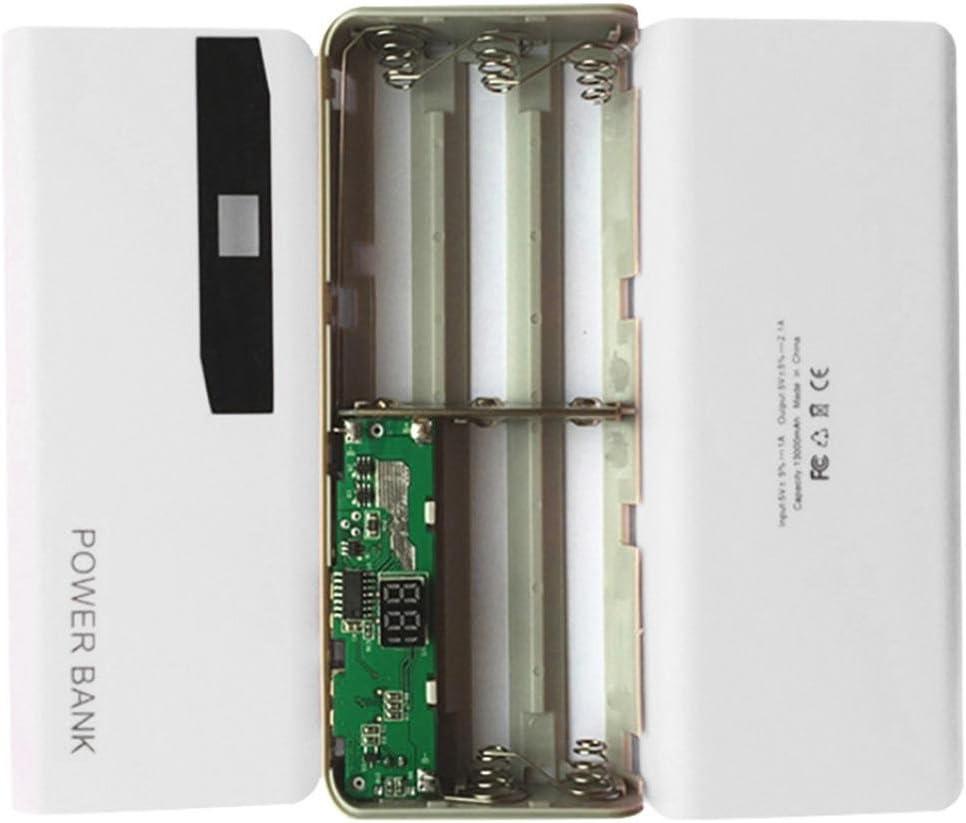 Kit de energía banco, erthome Power Banco compartimento de batería, indicador LED 5 x 18650 USB Power Bank Cargador Caso DIY caja para iPhone Weiß: Amazon.es: Electrónica