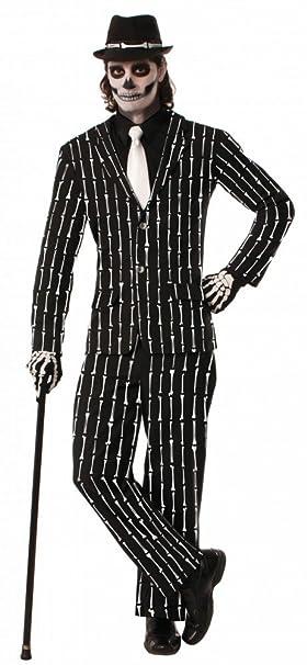 shoperama Traje con Huesos de Hombre Disfraz para Halloween ...