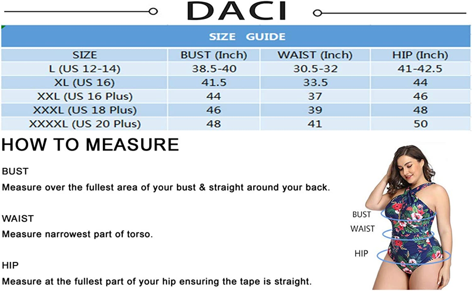 Daci Women Plus Size Swimsuits One Piece Tummy Control Bathing Suit Front Cross Swimwear Ruched