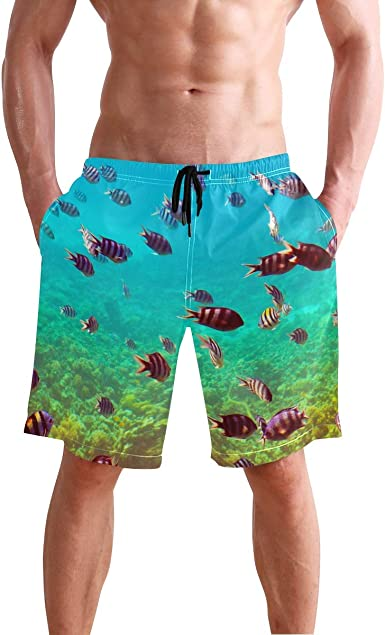 Men/'s Swim Trunks Beach Board Swimwear Shorts Swimming Short Pants Quick Dry Water Shorts Mesh Lining