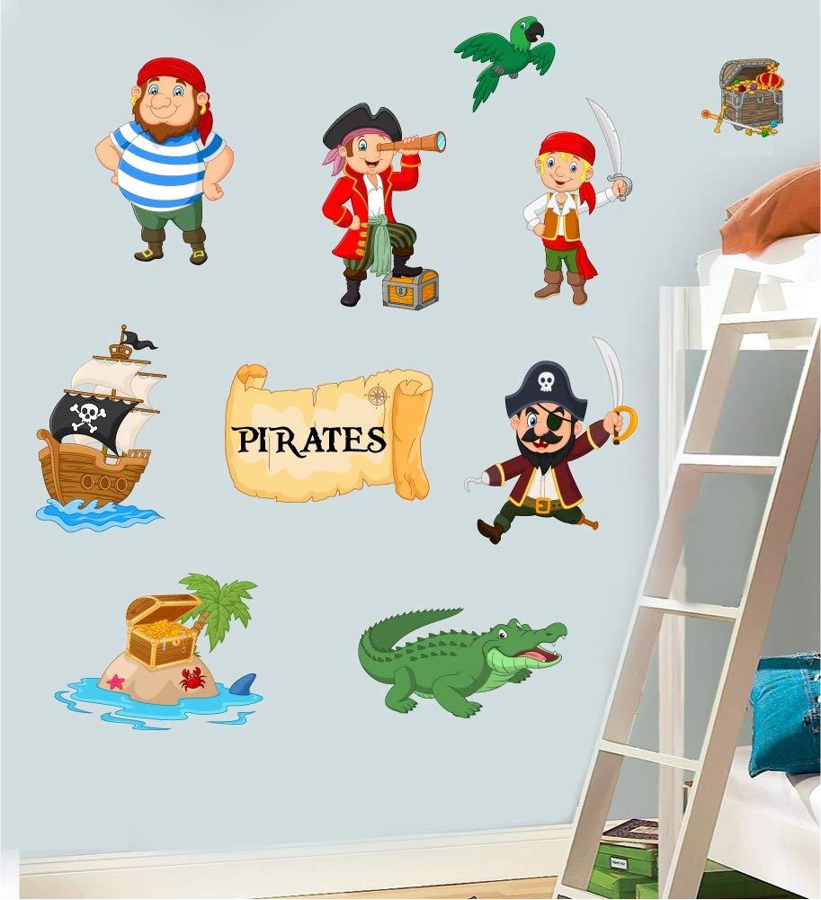 Childrens Pirates Pack Wall Art Vinyl Printed Stickers Murals Decals