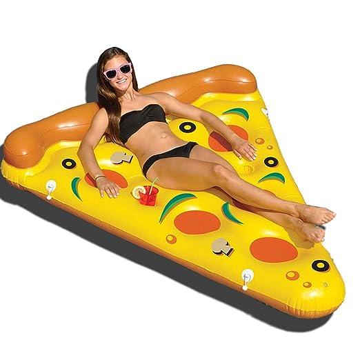 Guolipin Fila Flotante Inflable Playa Pizza Flotante Balsa Niños ...