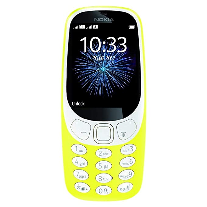 Nokia 3310 3G - Unlocked Single SIM Feature Phone  (AT&T/T-Mobile/MetroPCS/Cricket/Mint) - 2 4