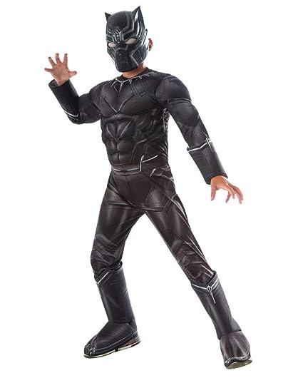 Horror-Shop Traje de los niños negro muscular Pantera M ...