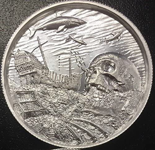 2 oz Privateer CollectionThe White Whale Ultra High Relief Silver Round