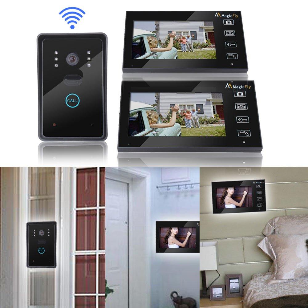 Magicfly Wireless Video Door Phone Intercom Doorbell Home Security 1-camera 2-monitor by Magicfly (Image #5)