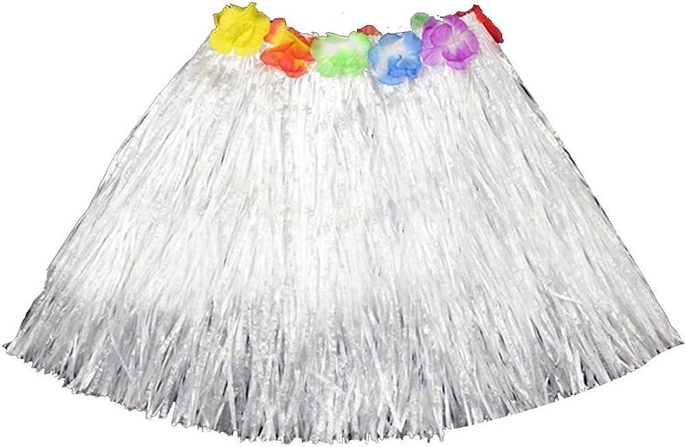 Fengzhicai Kids Boys Girls Hawaiian Hula Grass Beach Elastic Skirt Flower Party Dress