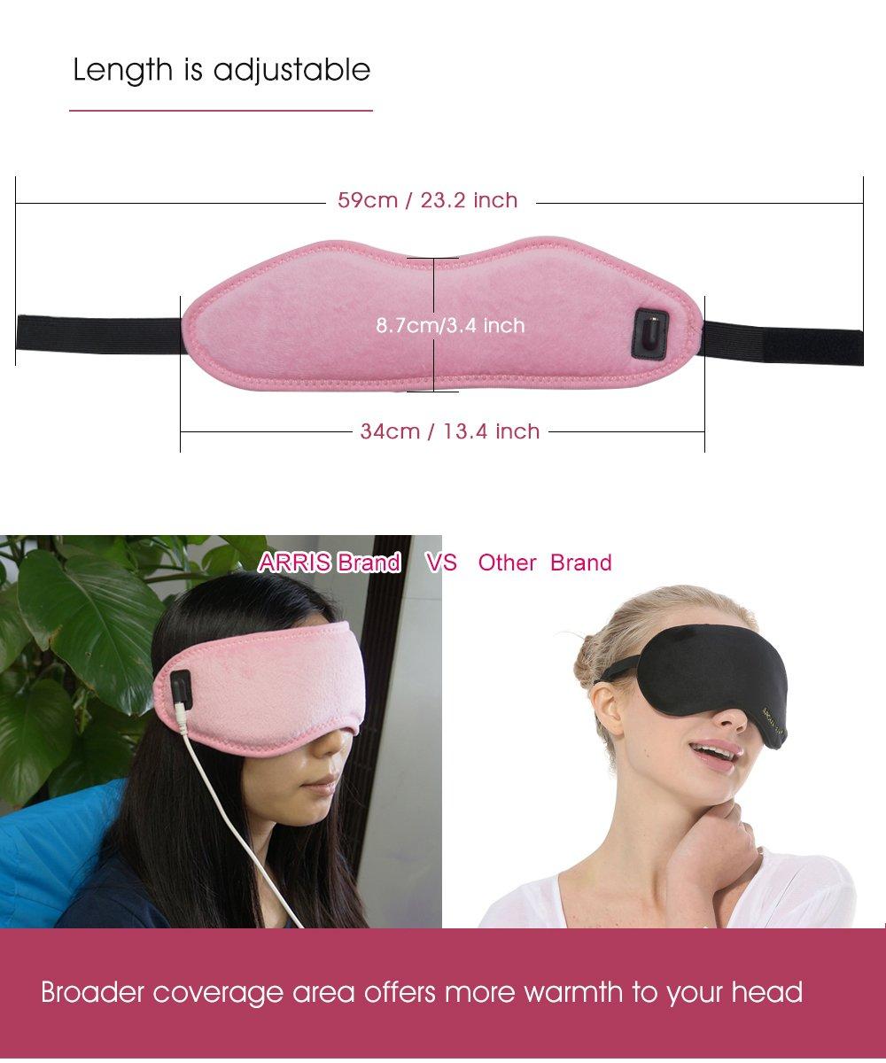 per alleviare insonnia con 5 livelli di temperatura con porta USB Arrishobby Mascherina per gli occhi per trattamento terapeutico a caldo riscaldata elettrica blefarite e malattia delle ghiandole di Meibomio occhi secchi