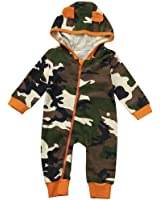Cartoon Jumpsuit Pajamas, WuyiMCNewborn Infant Baby Boy Girl Camouflage Hooded Romper Clothes Outfits