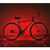 Soondar Super Bright 20-LED Bicycle Bike Rim Lights, Red