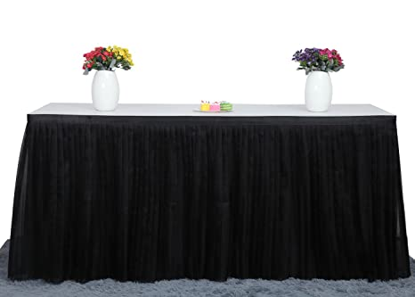 amazon com deluxe elegant table skirt for party decoration events