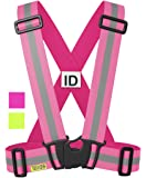 Tuvizo Reflective Vest for High Visibility All Day and Night with Emergency Identification Label. For Adults and Kids.