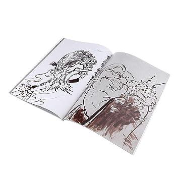 Toygogo Libro De Tatuajes Tatuaje Manuscrito Body Art Flash Libro ...