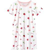 AOSKERA Camisa de Dormir de algodón camisón Fruit Girl Durante 3 a 12 años