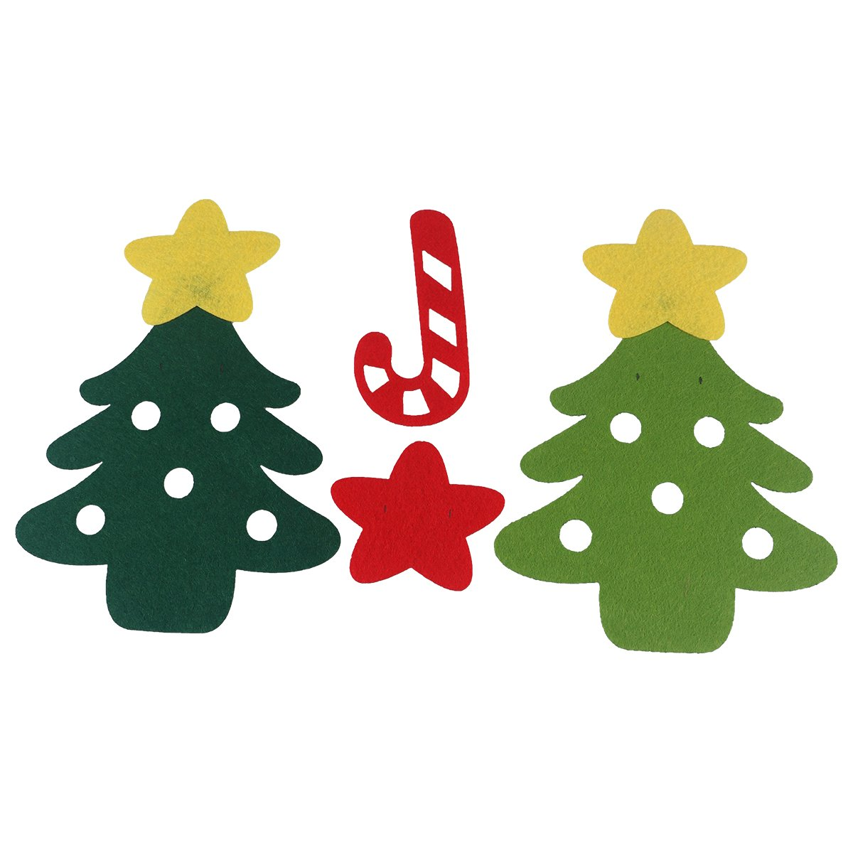 Bandiera albero di natale OULII Striscione Glirlanda 3 M per decorazione natalizia