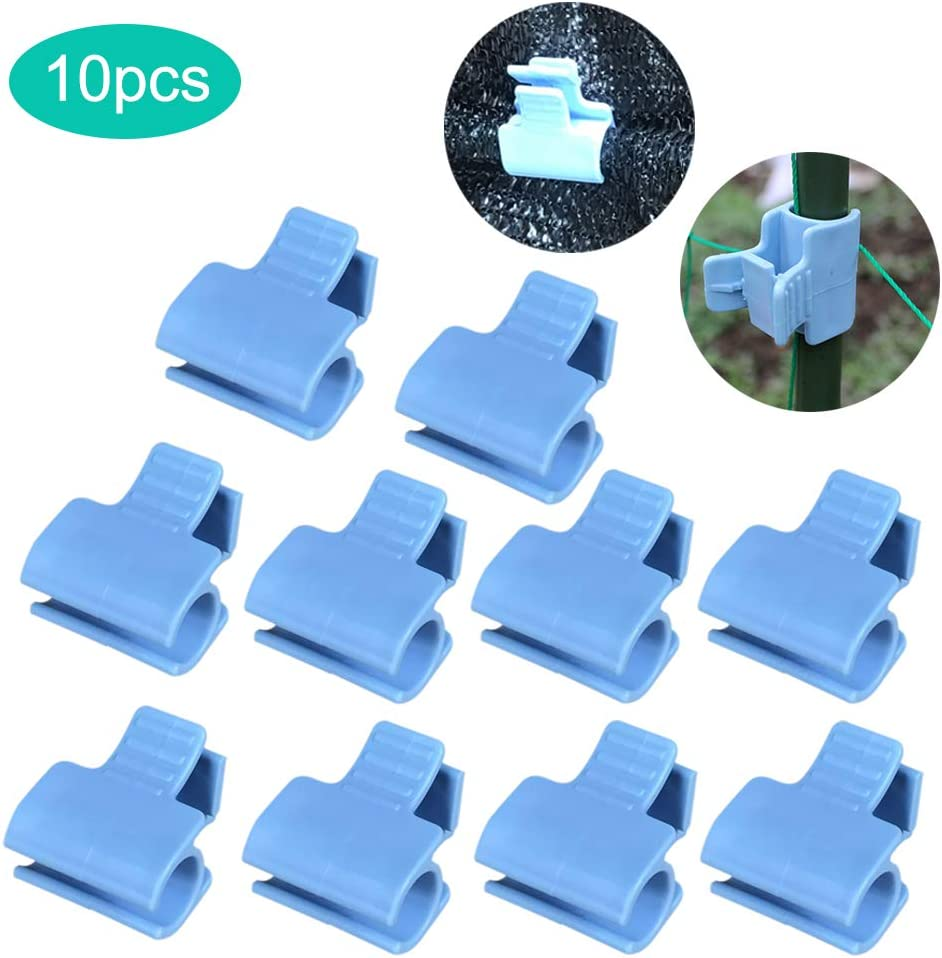 æ— 20Pcs Pipe Clamps Greenhouse Film Row Cover Netting Hoop Clips 16mm Plant Stakes