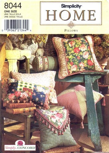 Simplicity 8044 Sewing Pattern Home Decorating Pillows