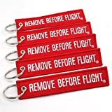 remove before flight lanyard - Rotary13B1 - Remove Before Flight Key Chain 5 Pack