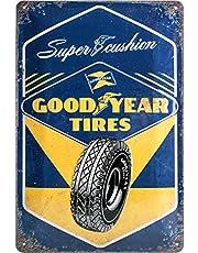 Nostalgic-Art Retro Tin Sign – Goodyear – Super Cushion – Gift idea for car and motor fans, Metal Plaque, 20 x 30 cm