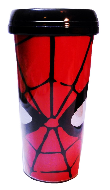 Marvel Comicsスパイダーマンロゴ16オンスプラスチックトラベルマグ   B005JKYW46