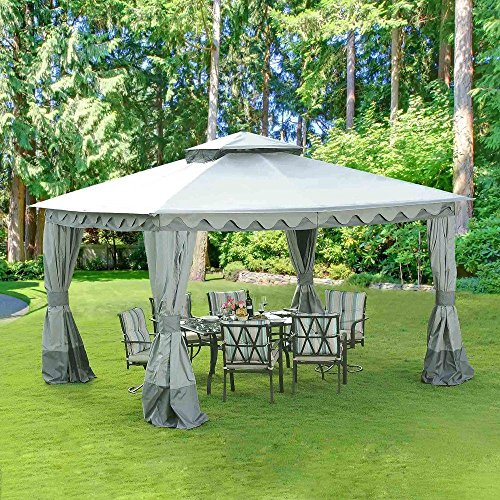 10 ft. x 12 ft. Fairfax Blunt Top Gazebo - Great For Parties and Social Gatherings - Includes a Full Length Mosquito Netting - No More Bug Bites !