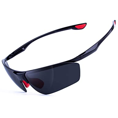 2f86e1352c Image Unavailable. Image not available for. Color  MEETLOCKS Polarized  Sports Sunglasses for Men