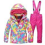 FidgetFidget Snowsuit Coat+Pants Kids Outdoor Ski Suit Set Boys Girls Thicken Warm Waterproof