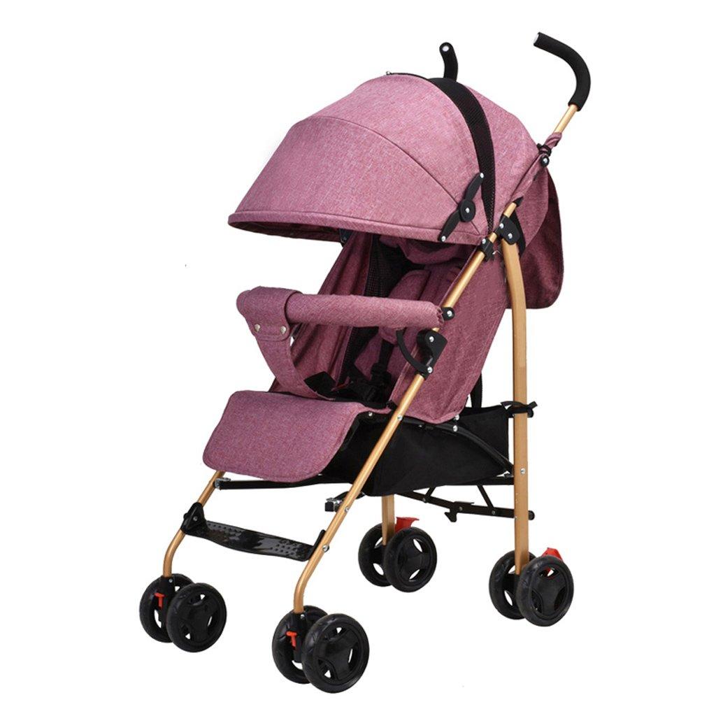 TLMY 子供のトロリーは座って、夏の赤ん坊の傘を折りたたむために超軽量で寝ることができます ベビー用トロリー (色 : A)  A B07GBMKCVK