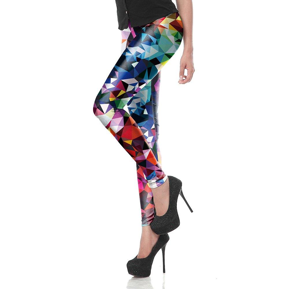 MAOYYMYJK Yoga-Hose Für Damen Leggings Damen Bleistifthosen D1491 Mit Geometrischem Digitaldruck
