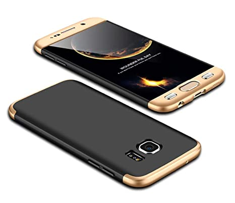Coque Samsung Galaxy S7 360 degrés Or+Noir Protection Matte Ultra Slim  Cover PC Hard b476a94e1a16