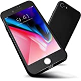 iPhone 8 Plus Case,ORETECH 7 Plus 360 Full Body Hard PC Case with[2 x Tempered Glass Screen Protector] Ultra Thin Lightweight
